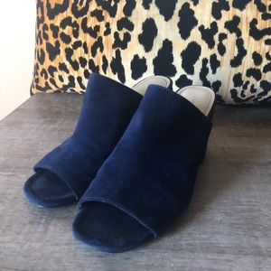 Marc Fisher Navy Mules